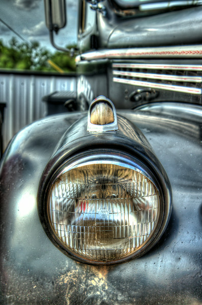 Headlight from a old car.